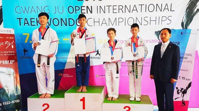 การแข่งขันกีฬาเทควันโด Gwang Ju Open International Taekwondo Championships 2018 ณ ประเทศเกาหลีใต้