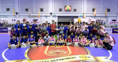 สโมสรฟุตซอลกรมทางหลวง มอบอุปกรณ์กีฬาให้กับนักฟุตซอลโรงเรียนโพธิสารพิทยากร