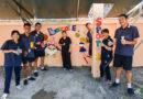 """กิจกรรม """"ส่งท้ายปี ทำความดี เพื่อองค์กร"""" วาดภาพกำแพงรอบโรงเรียน"""