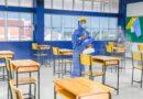 ทำความสะอาดและฉีดพ่นฆ่าเชื้อไวรัสโคโรนา (COVID-19) เพื่อเตรียมรับการสอบคัดเลือกนักเรียน ม.1 ปกติ/IEP เเละ ม.4 ปกติ